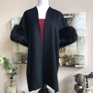 Sweaters - Authentic mink Handmade Asymmetrical Wrap coat